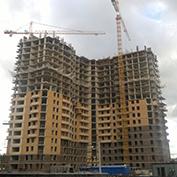 Ход строительства жилого комплекса, 29.08.2014 III очередь